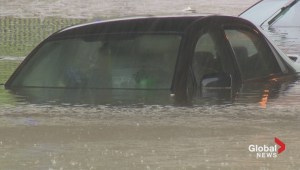 Raw video: Cars submerged after extensive flooding